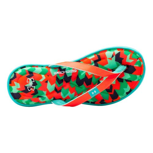 Womens Under Armour Marbella Aztec IV T Sandals Shoe - After Burn/Faded Ink 6