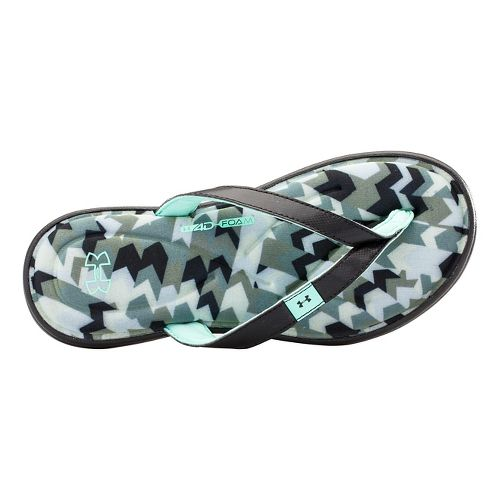 Womens Under Armour Marbella Aztec IV T Sandals Shoe - After Burn/Faded Ink 11
