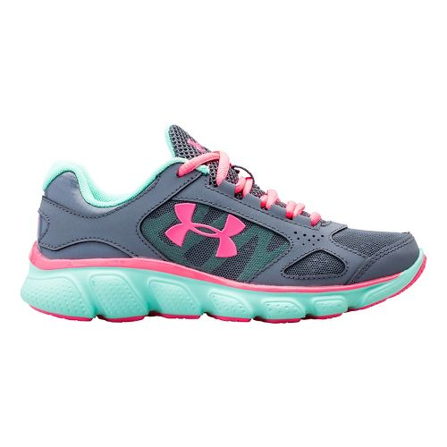 Kids Under Armour Assert V Running Shoe - Gravel/Crystal 11C