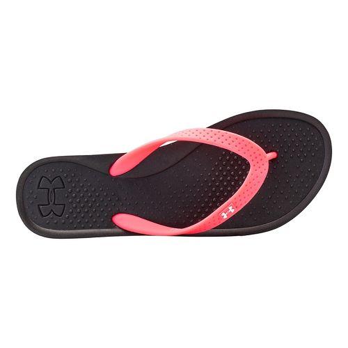 Womens Under Armour AtlanticDune T Sandals Shoe - Black/Neo Pulse 10