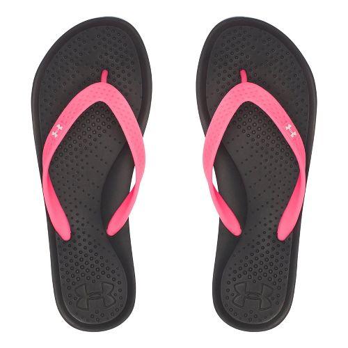 Womens Under Armour Atlantic Dune T Sandals Shoe - Black/Cerise 9