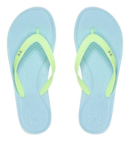 Womens Under Armour Atlantic Dune T Sandals Shoe - Opal Blue 8