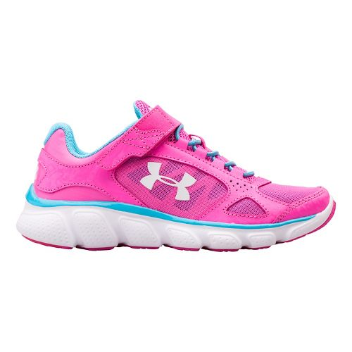 Kids Under Armour Assert V AC Running Shoe - Steel/Purple 11C