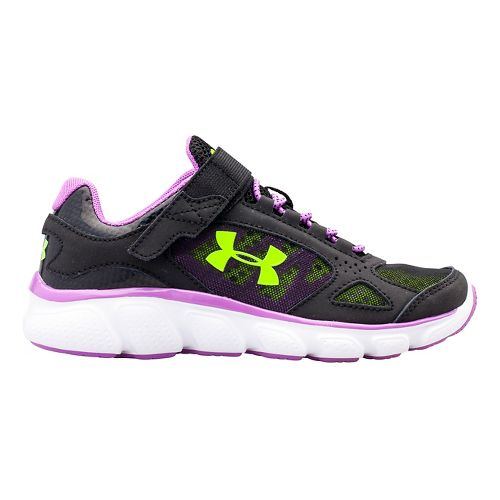 Kids Under Armour GPS Assert V AC Running Shoe - Gravel/Crystal 1