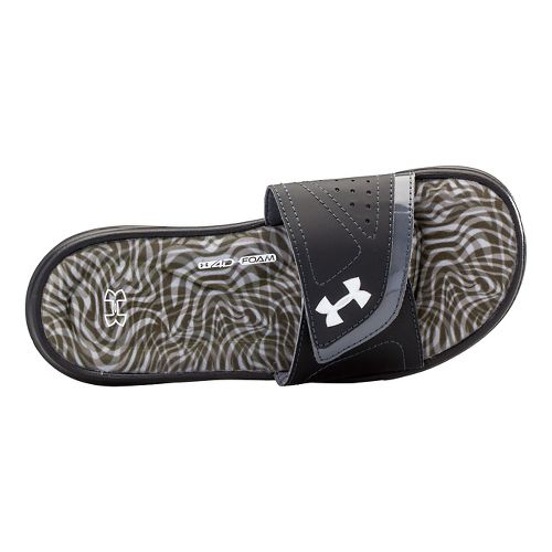 Womens Under Armour Ignite Ripple VII SL Sandals Shoe - Black/Lead 12