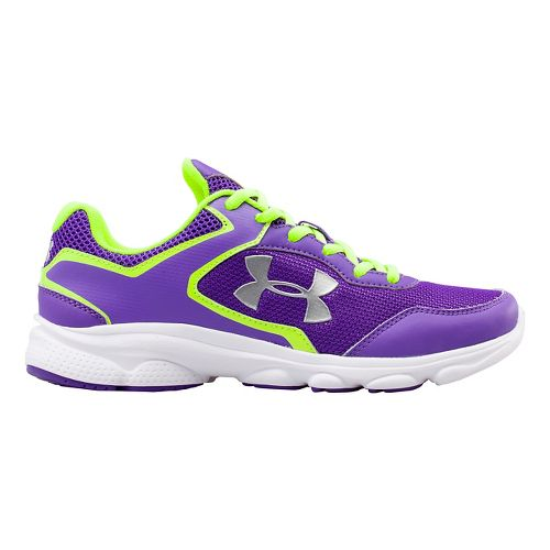 Kids Under Armour GGS Escape Run Running Shoe - Pride/Yellow 4.5