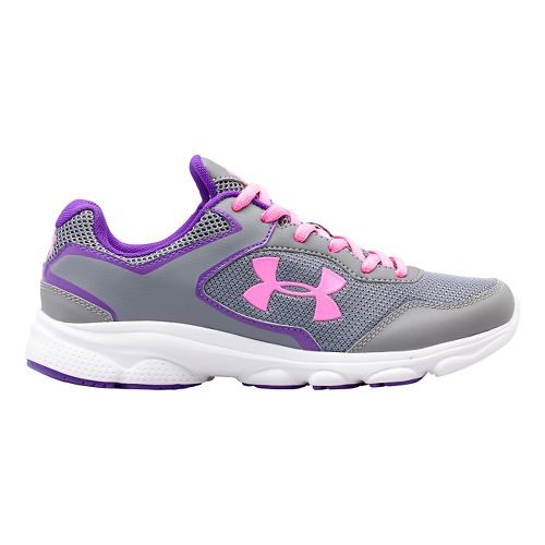 Kids Under Armour GGS Escape Run Running Shoe - Steel/Pride 5.5