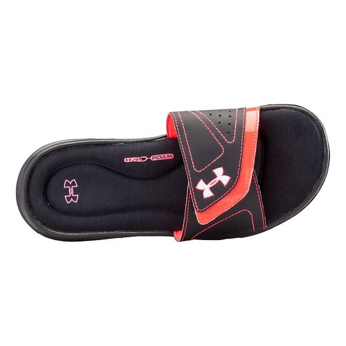 Womens Under Armour Ignite VII SL Sandals Shoe - Black/Neo Pulse 11
