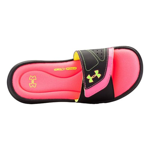 Womens Under Armour Ignite VII SL Sandals Shoe - Black/Black 11