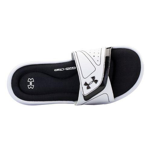 Womens Under Armour Ignite VII SL Sandals Shoe - White/Black 10