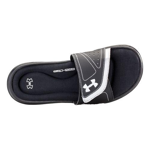 Womens Under Armour Ignite VII SL Sandals Shoe - Black/White 6