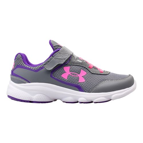 Kids Under Armour GPS Escape Run AC Running Shoe - Steel/Pride 6.5