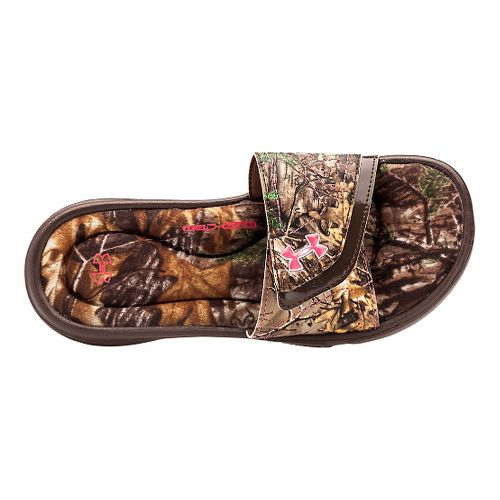 Kids Under Armour Ignite Camo VII SL Sandals Shoe - Real Tree/Brown 3