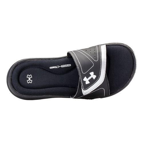 Kids Under Armour Ignite VII SL Sandals Shoe - Black/White 11C