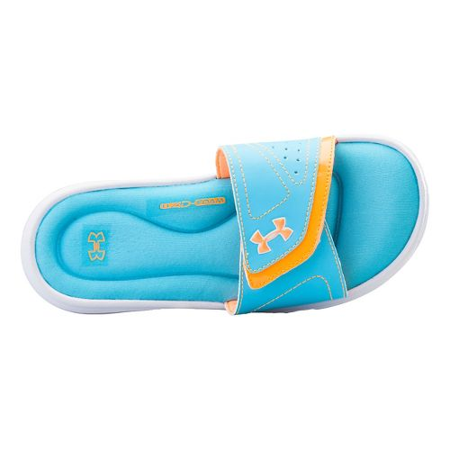 Kids Under Armour Ignite VII SL Sandals Shoe - White/Surfs Up 2