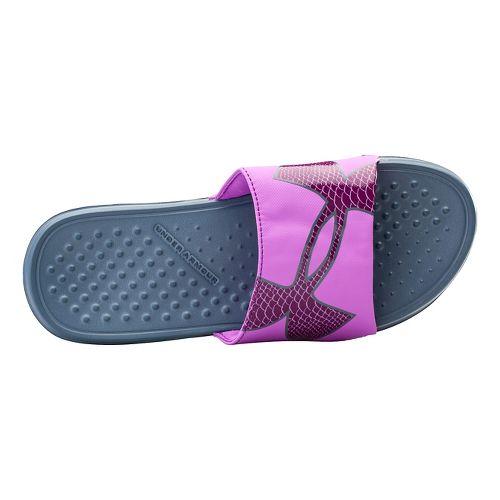 Womens Under Armour Strike Rock SL Sandals Shoe - Black 6
