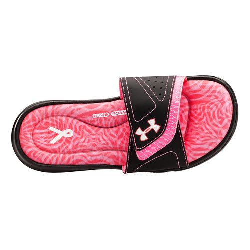 Womens Under Armour Ignite PIP VII SL Sandals Shoe - Black/Cerise 8