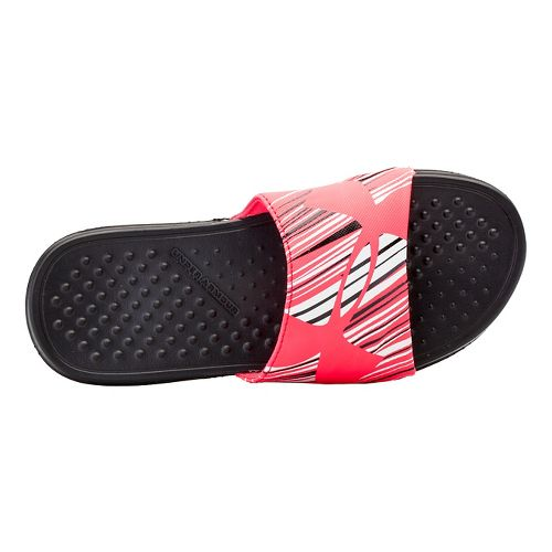 Kids Under Armour Strike Wind SL Sandals Shoe - Black/Pink Shock 1