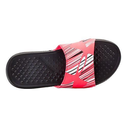 Kids Under Armour Strike Wind SL Sandals Shoe - Black/Pink Shock 13