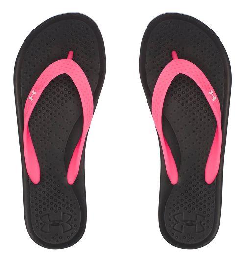 Under Armour Atlantic Dune T Sandals Shoe - Black/Pink 1Y