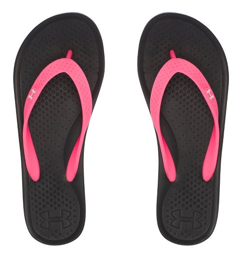 Under Armour Atlantic Dune T Sandals Shoe - Black/Pink 5Y