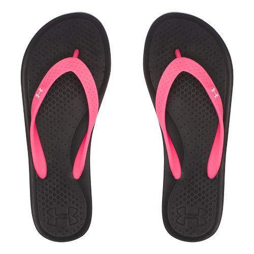 Under Armour Atlantic Dune T Sandals Shoe - Black/Pink 5Y