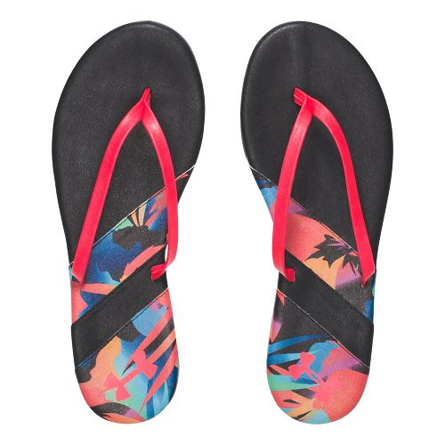 Womens Under Armour LakeShore DR T Sandals Shoe - Black/Coral 10