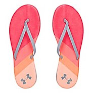 Womens Under Armour LakeShore DR T Sandals Shoe - Sirens Coral/Orange 8