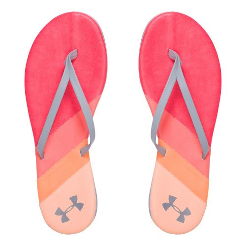 Womens Under Armour LakeShore DR T Sandals Shoe - Sirens Coral/Orange 7