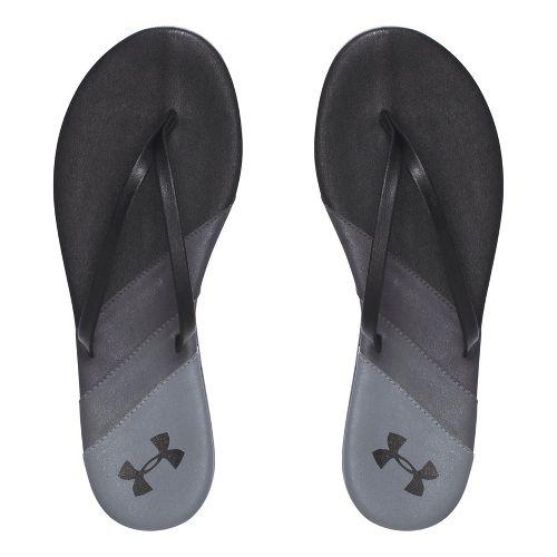 Womens Under Armour LakeShore DR T Sandals Shoe - Black/Black 7