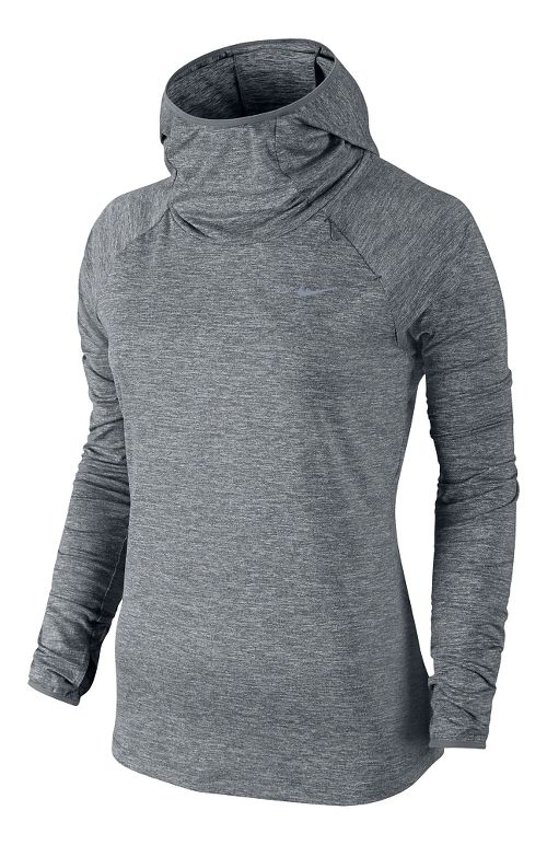 Womens Nike Element Hoody Long Sleeve No Zip Technical Tops - Grey M