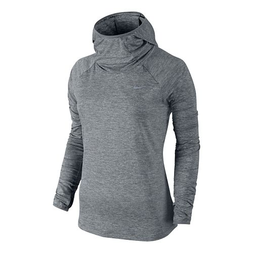 Womens Nike Element Hoody Long Sleeve No Zip Technical Tops - Grey XL