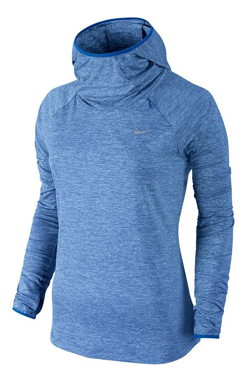 Womens Nike Element Hoody Long Sleeve No Zip Technical Tops - Royal L