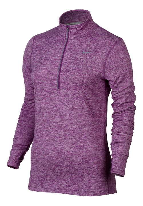 Womens Nike Element Long Sleeve Half Zip & Hoodies Technical Tops - Purple Dusk L