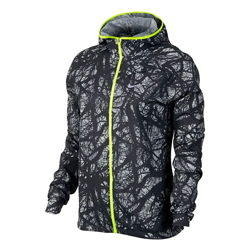 Womens Nike Enchanted Impossibly Light Lightweight Jackets - Black/Volt XL