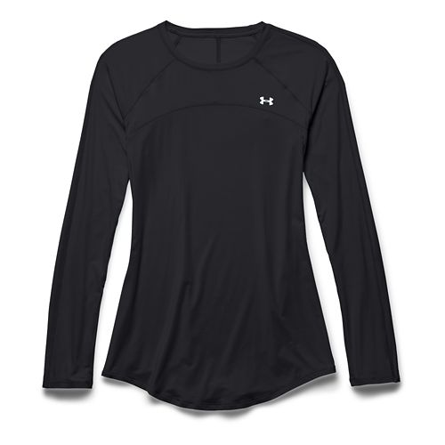 Womens Under Armour Sunblock 50 Long Sleeve Technical Tops - Black M