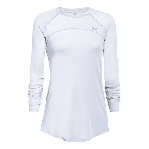 Womens Under Armour Sunblock 50 Long Sleeve Technical Tops - White L