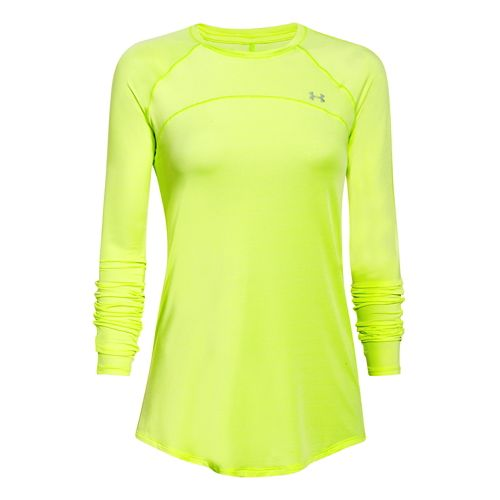 Womens Under Armour Sunblock 50 Long Sleeve No Zip Technical Tops - X-Ray M