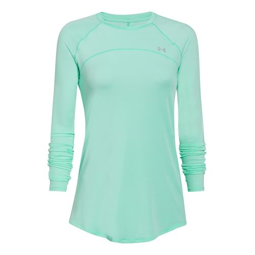 Womens Under Armour Sunblock 50 Long Sleeve Technical Tops - Crystal L