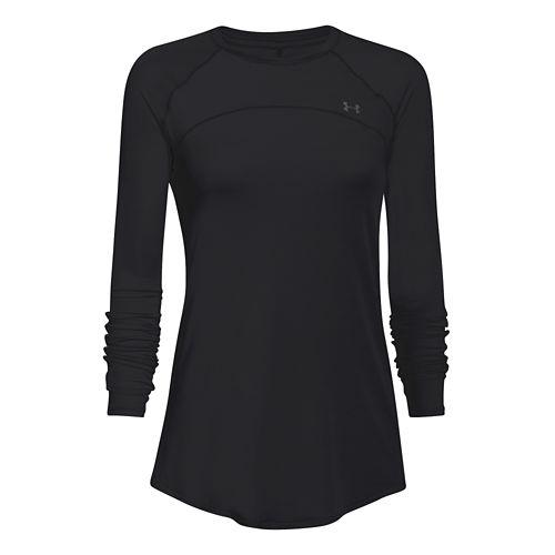 Womens Under Armour Sunblock 50 Long Sleeve No Zip Technical Tops - Moon Mist M ...