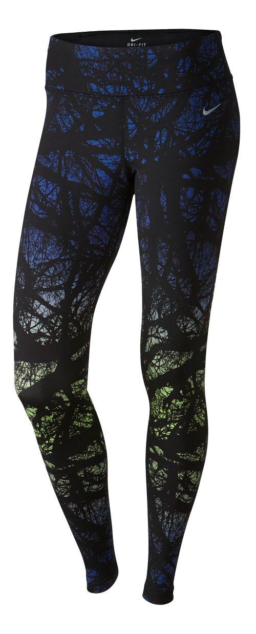 Womens Nike Printed Engineered Full Length Tights - Deep Royal Blue XL