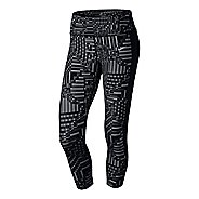 Womens Nike Printed Epic Lux Crop Full Length Tights