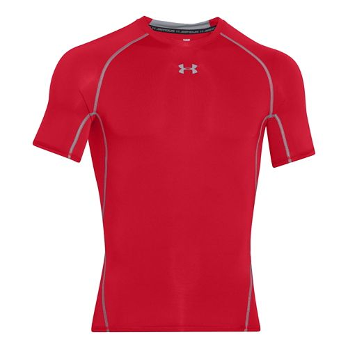 Mens Under Armour HeatGear Compression T Short Sleeve Technical Tops - Red XL