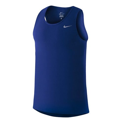 Mens Nike Dri-FIT Contour Singlet Tanks Technical Tops - Deep Royal Blue S