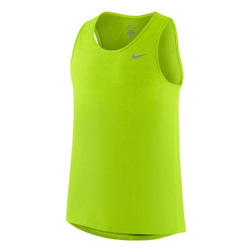 Mens Nike Dri-FIT Contour Singlet Tanks Technical Tops - White XL