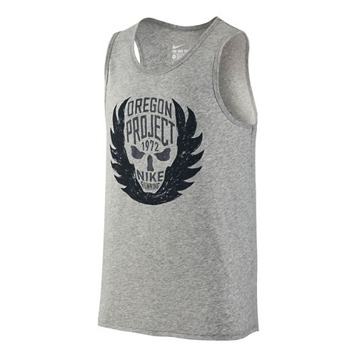 Mens Nike Oregon Project Tanks Technical Tops - Dark Grey S