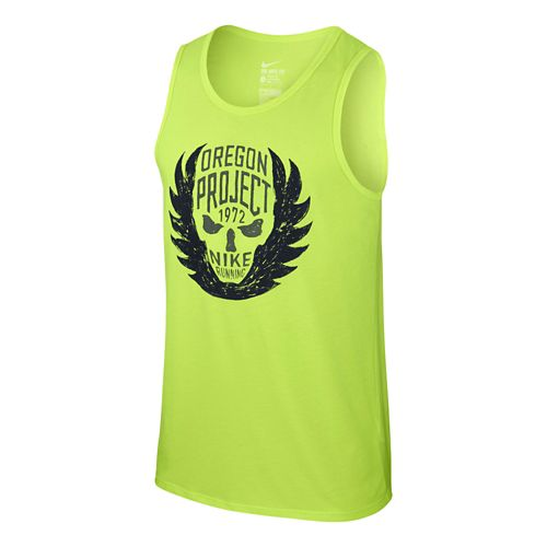 Mens Nike Oregon Project Tanks Technical Tops - Volt M