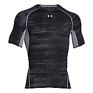 Mens Under Armour HeatGear Armour Compression Printed T Short Sleeve Technical Tops