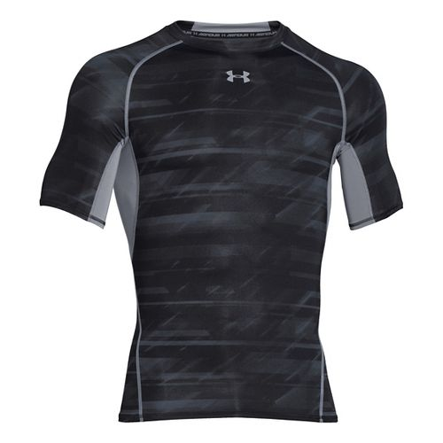 Mens Under Armour HeatGear Armour Compression Printed T Short Sleeve Technical Tops - ...