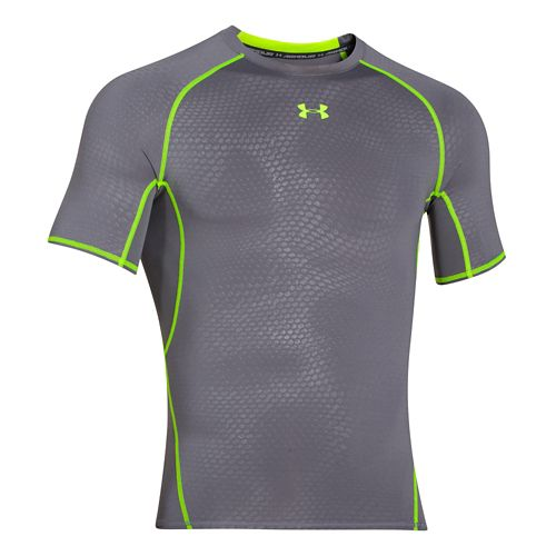 Mens Under Armour HeatGear Compression Printed T Short Sleeve Technical Tops - ...